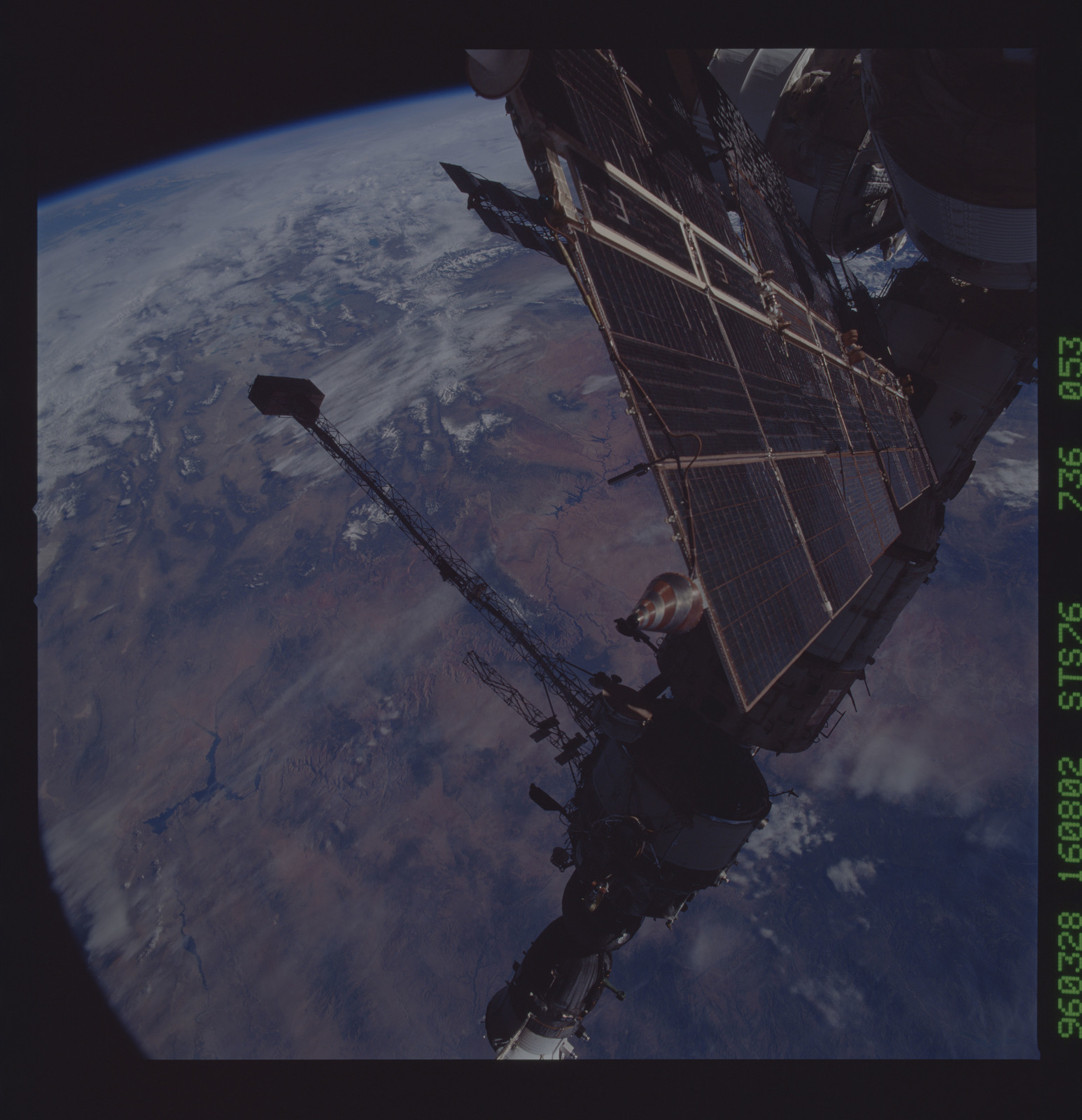 STS076-736-053 - STS-076 - Mir Space Station views taken during STS-76 mission