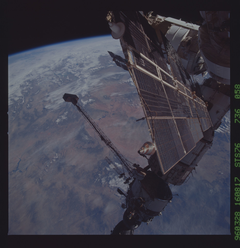 STS076-736-058 - STS-076 - Mir Space Station views taken during STS-76 mission