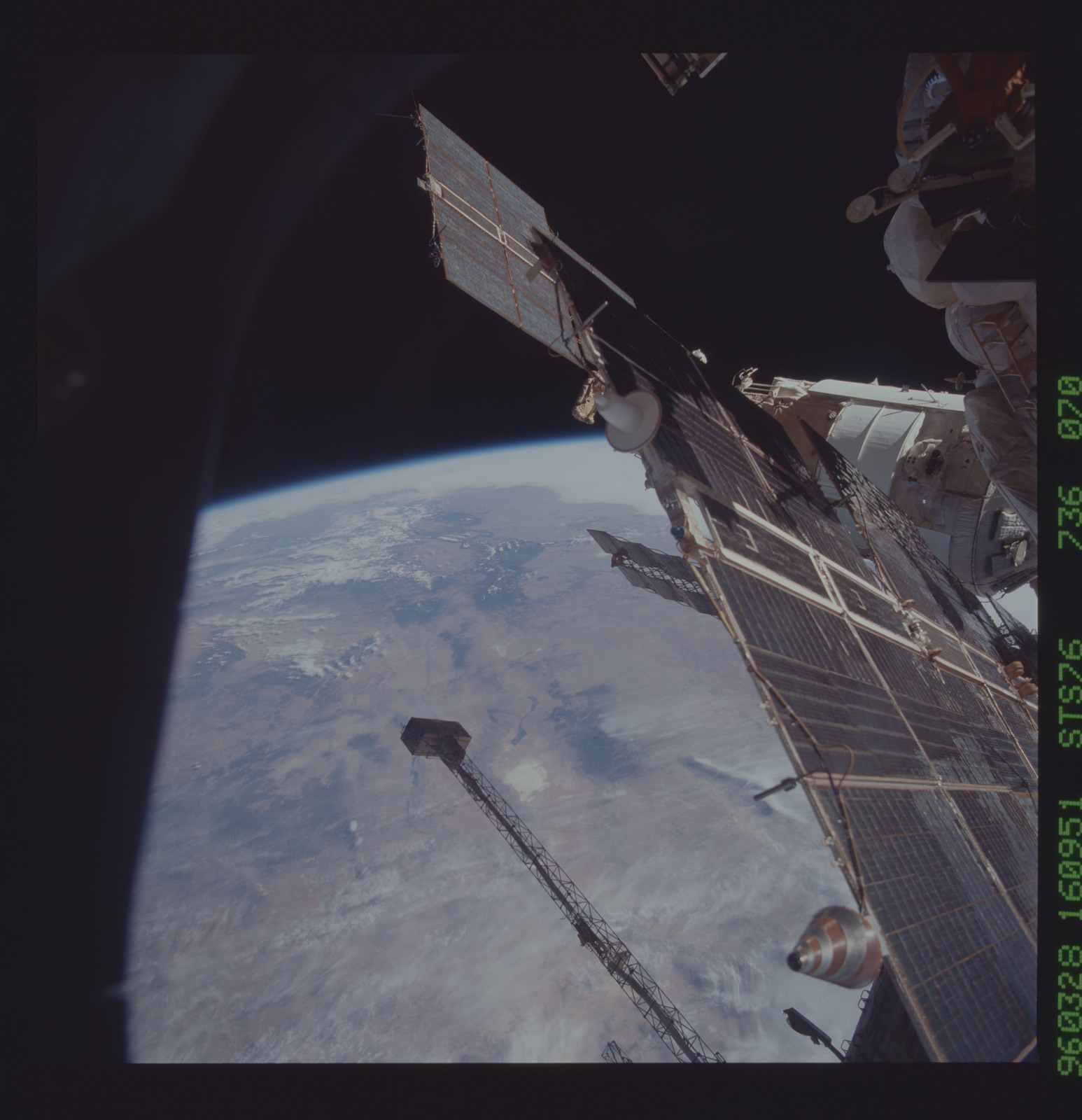STS076-736-070 - STS-076 - Mir Space Station views taken during STS-76 mission