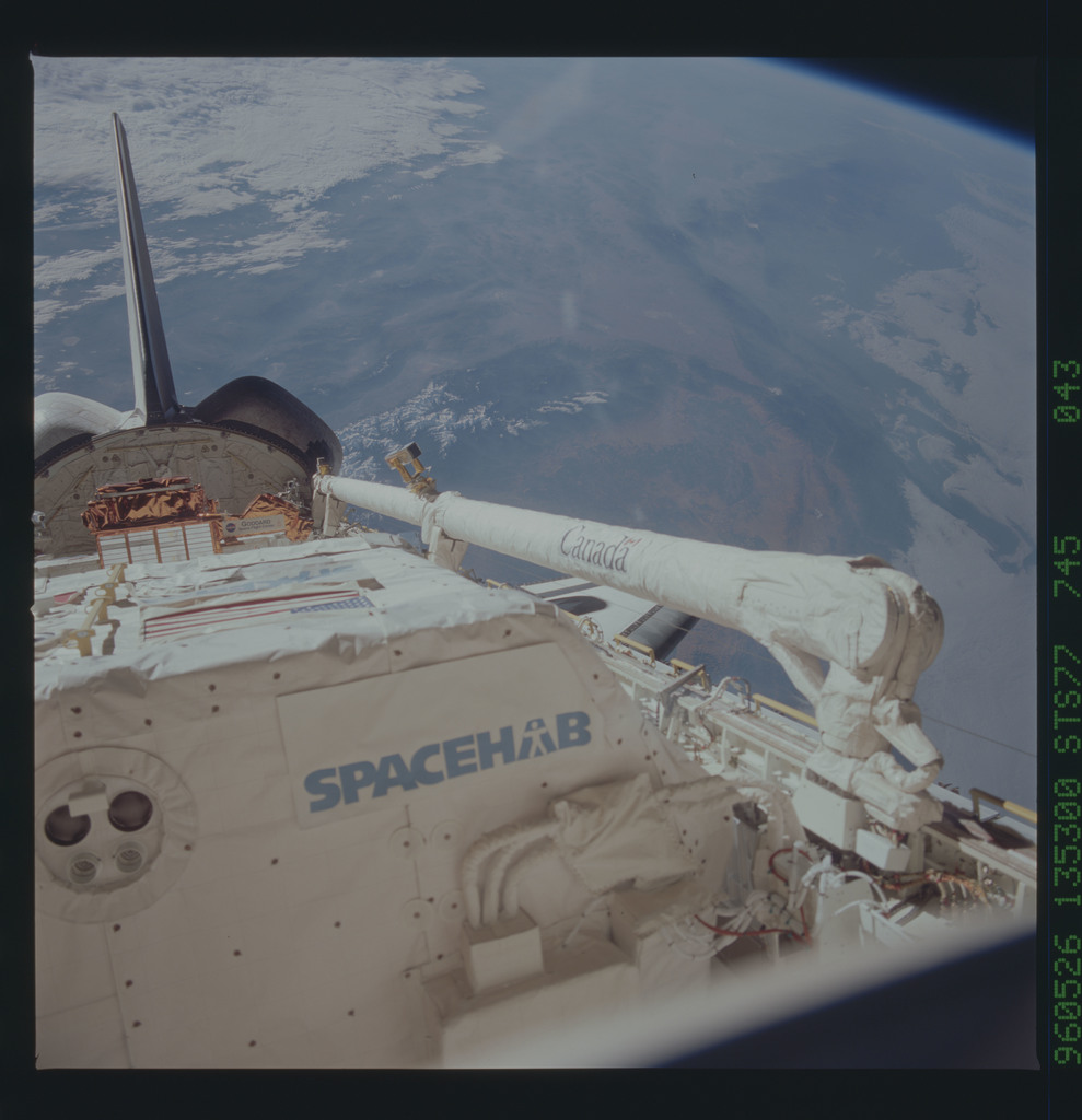 STS077-745-043 - STS-077 - View of the Endeavour's payload bay