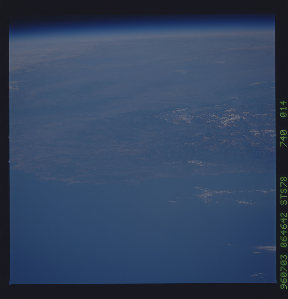 STS078-740-014 - STS-078 - Earth observations taken from Space Shuttle Columbia during STS-78 mission