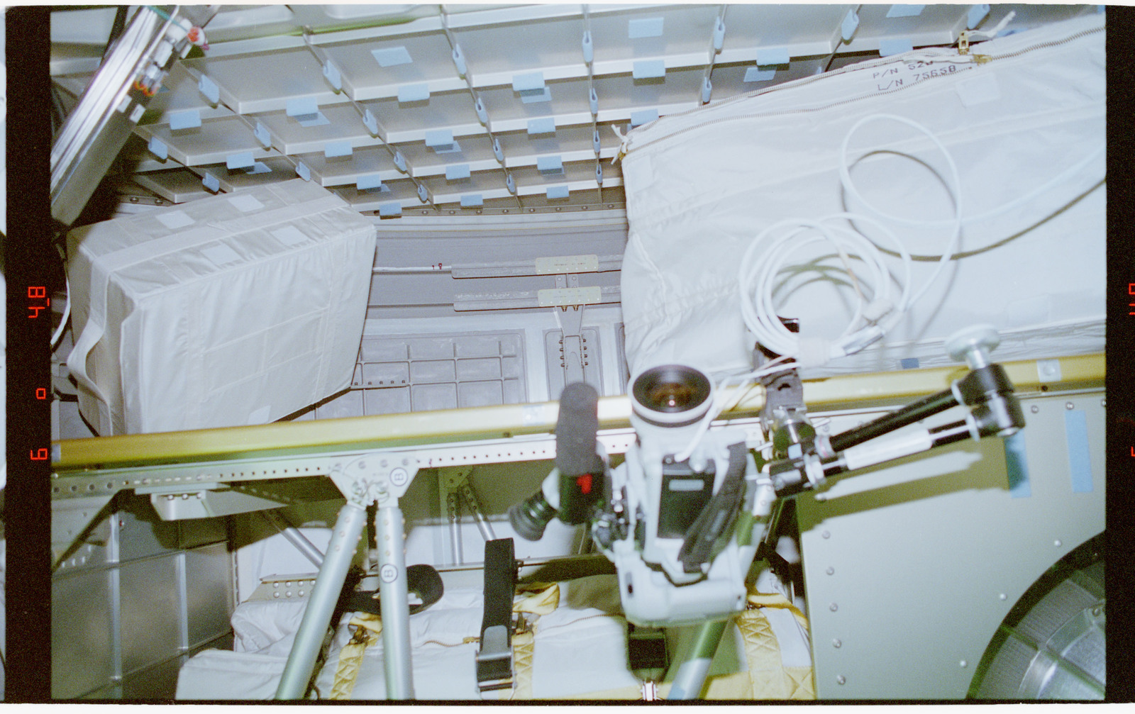 STS079-302-036 - STS-079 - Stowage in the Spacehab module