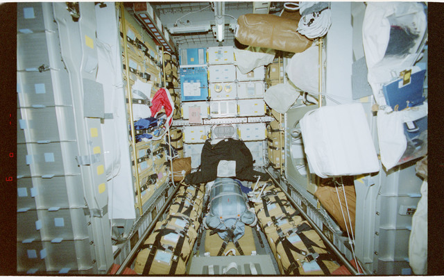 STS079-343-037 - STS-079 - Views of the transfer tunnel and the Spacehab module