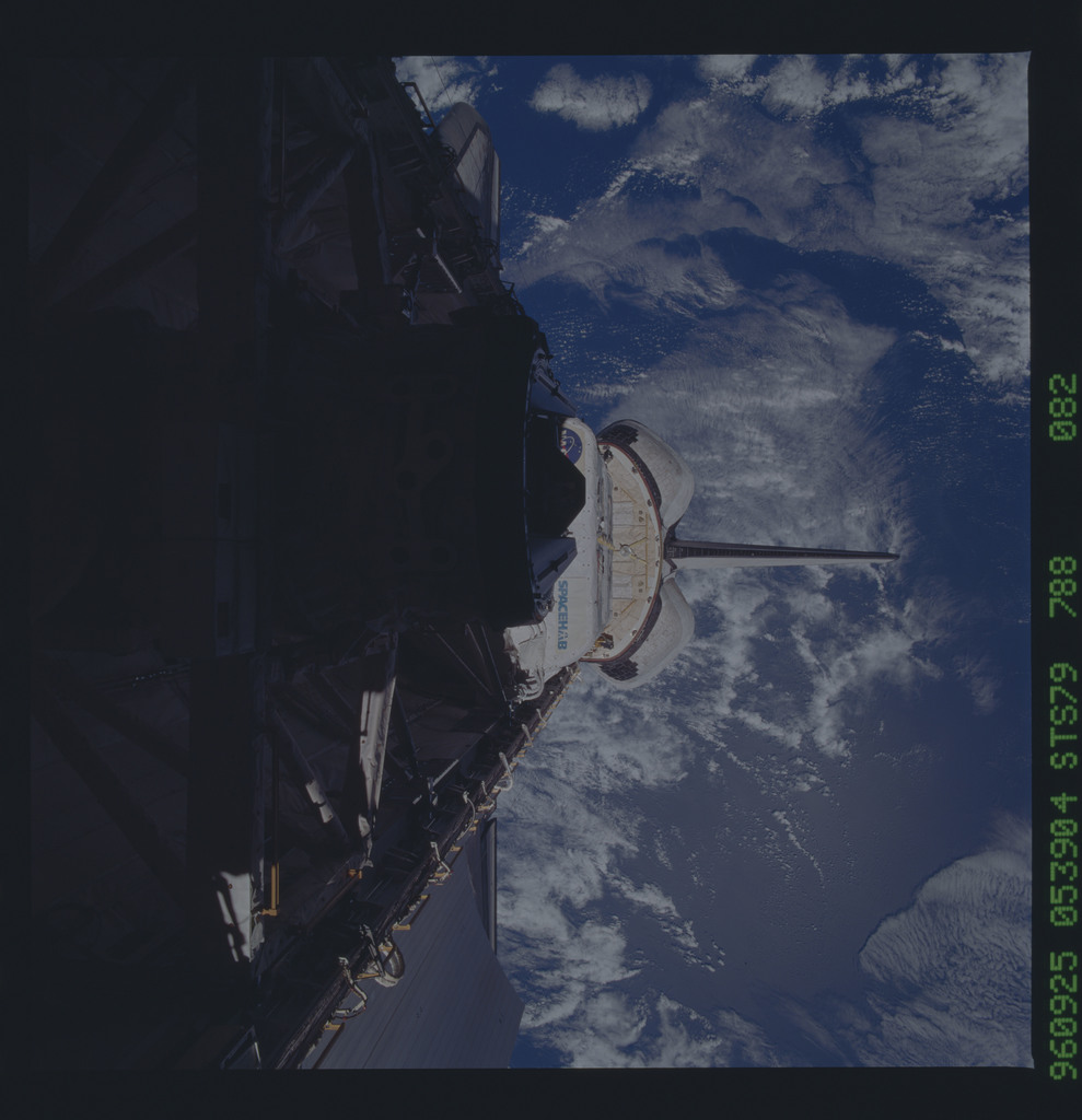 STS079-788-082 - STS-079 - ODS in Atlantis payload bay after undocking with Mir