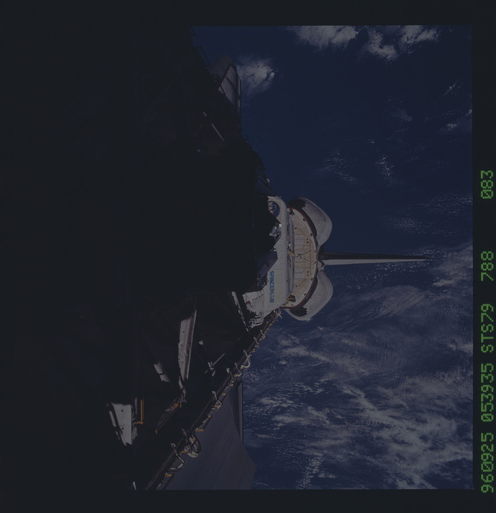 STS079-788-083 - STS-079 - ODS in Atlantis payload bay after undocking with Mir
