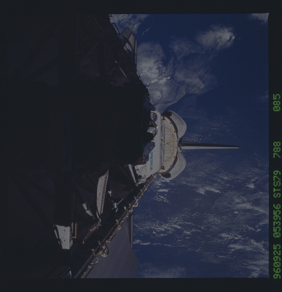STS079-788-085 - STS-079 - ODS in Atlantis payload bay after undocking with Mir