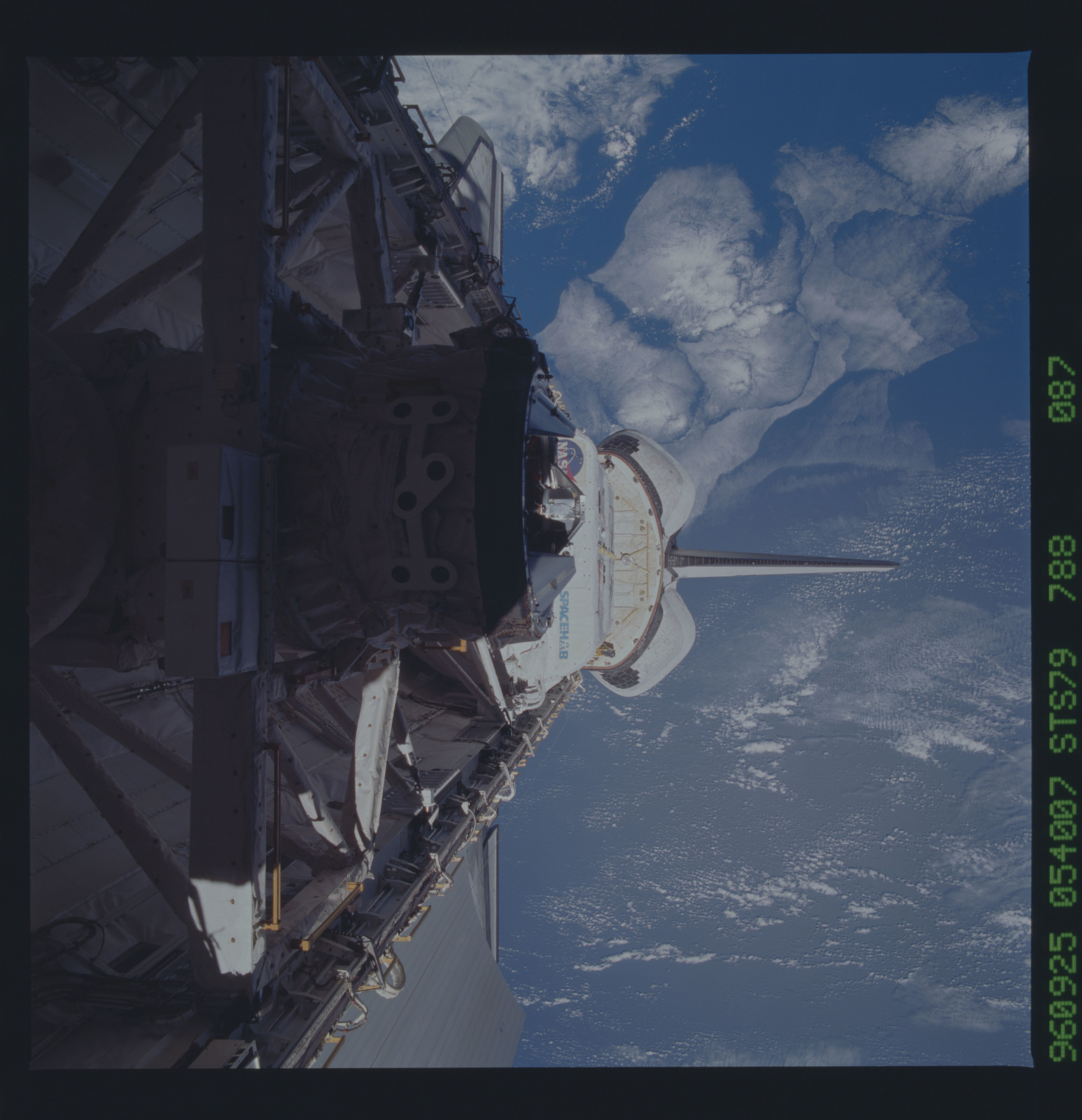 STS079-788-087 - STS-079 - ODS in Atlantis payload bay after undocking with Mir