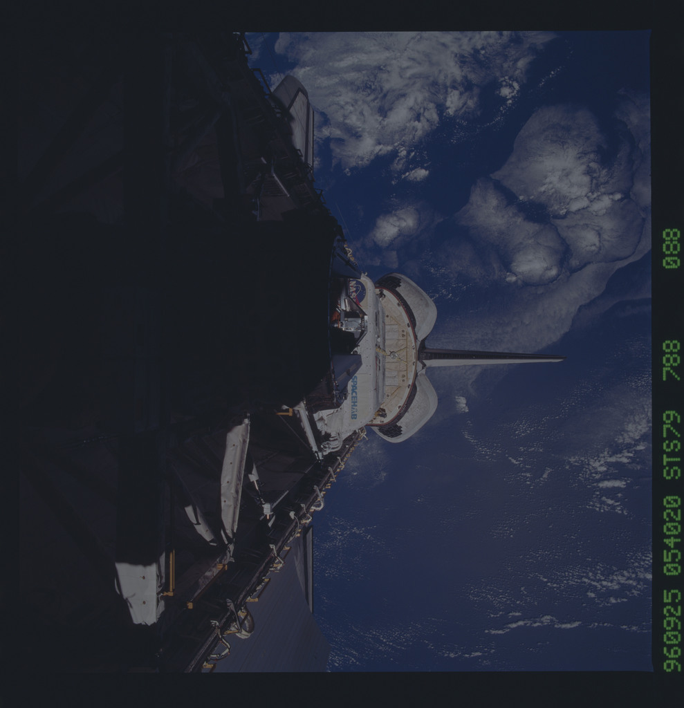 STS079-788-088 - STS-079 - ODS in Atlantis payload bay after undocking with Mir
