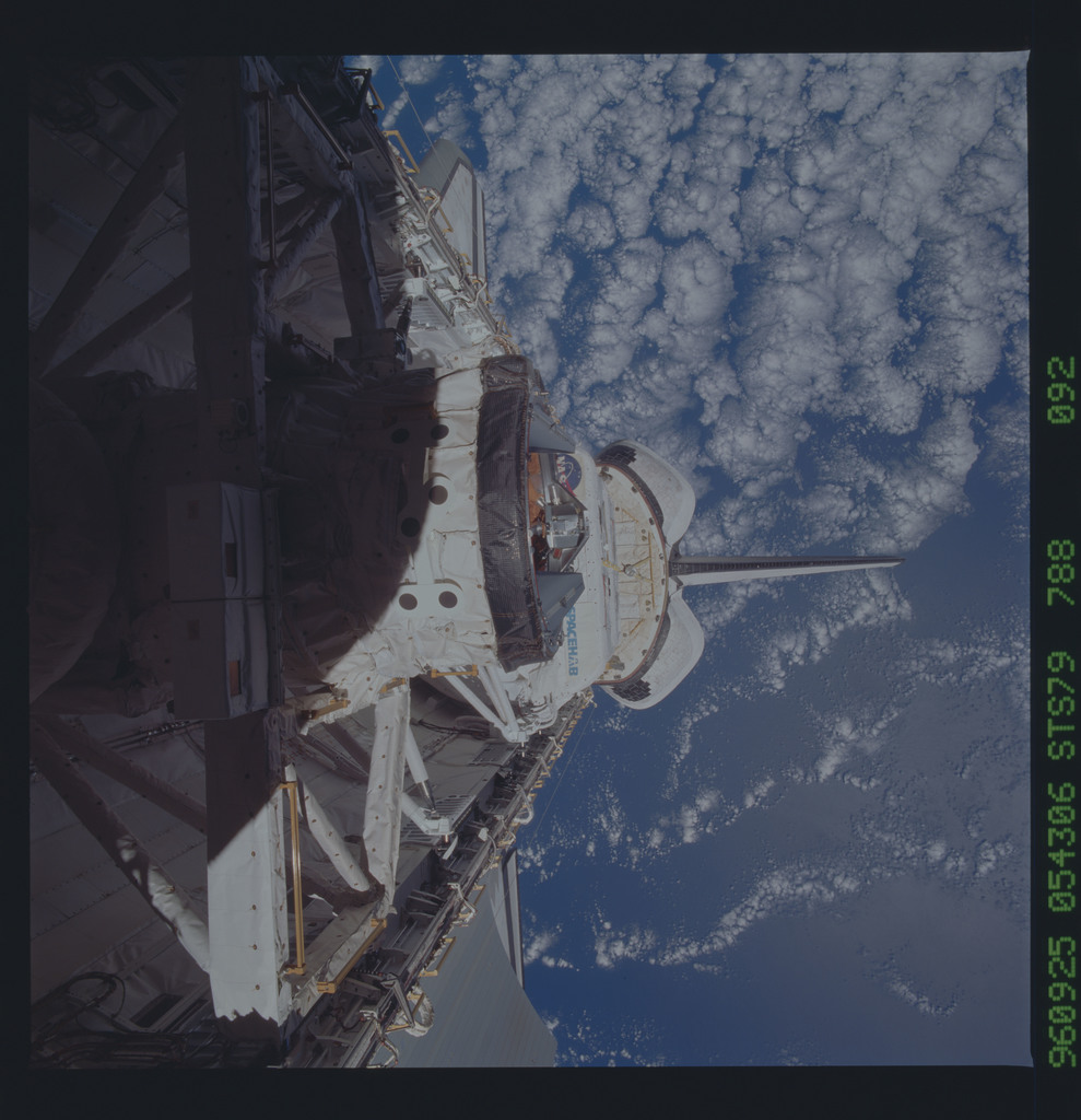 STS079-788-092 - STS-079 - ODS in Atlantis payload bay after undocking with Mir