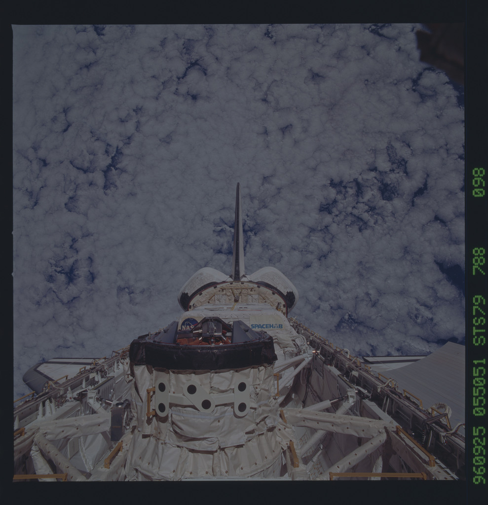 STS079-788-098 - STS-079 - ODS in Atlantis payload bay after undocking with Mir