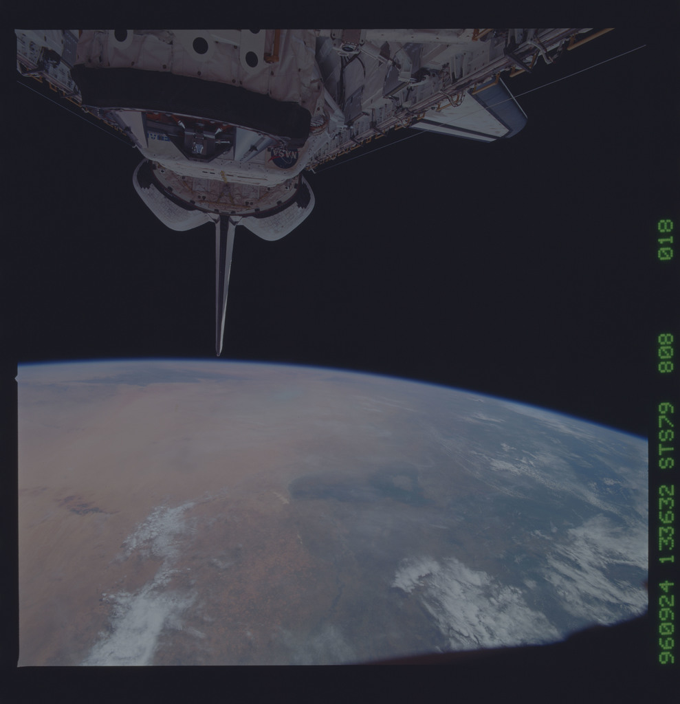 STS079-808-018 - STS-079 - Payload bay and ODS after undocking with Mir