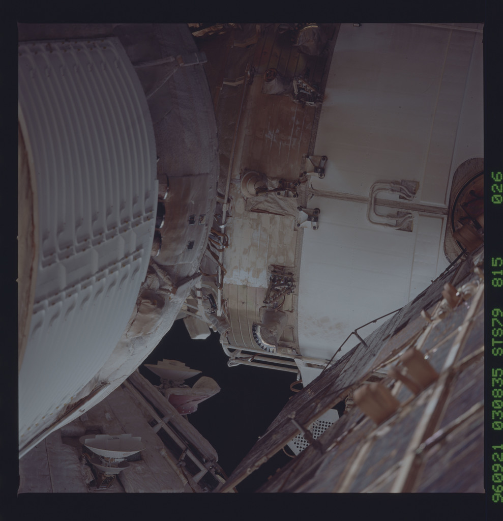 STS079-815-026 - STS-079 - Survey views of the Mir space station