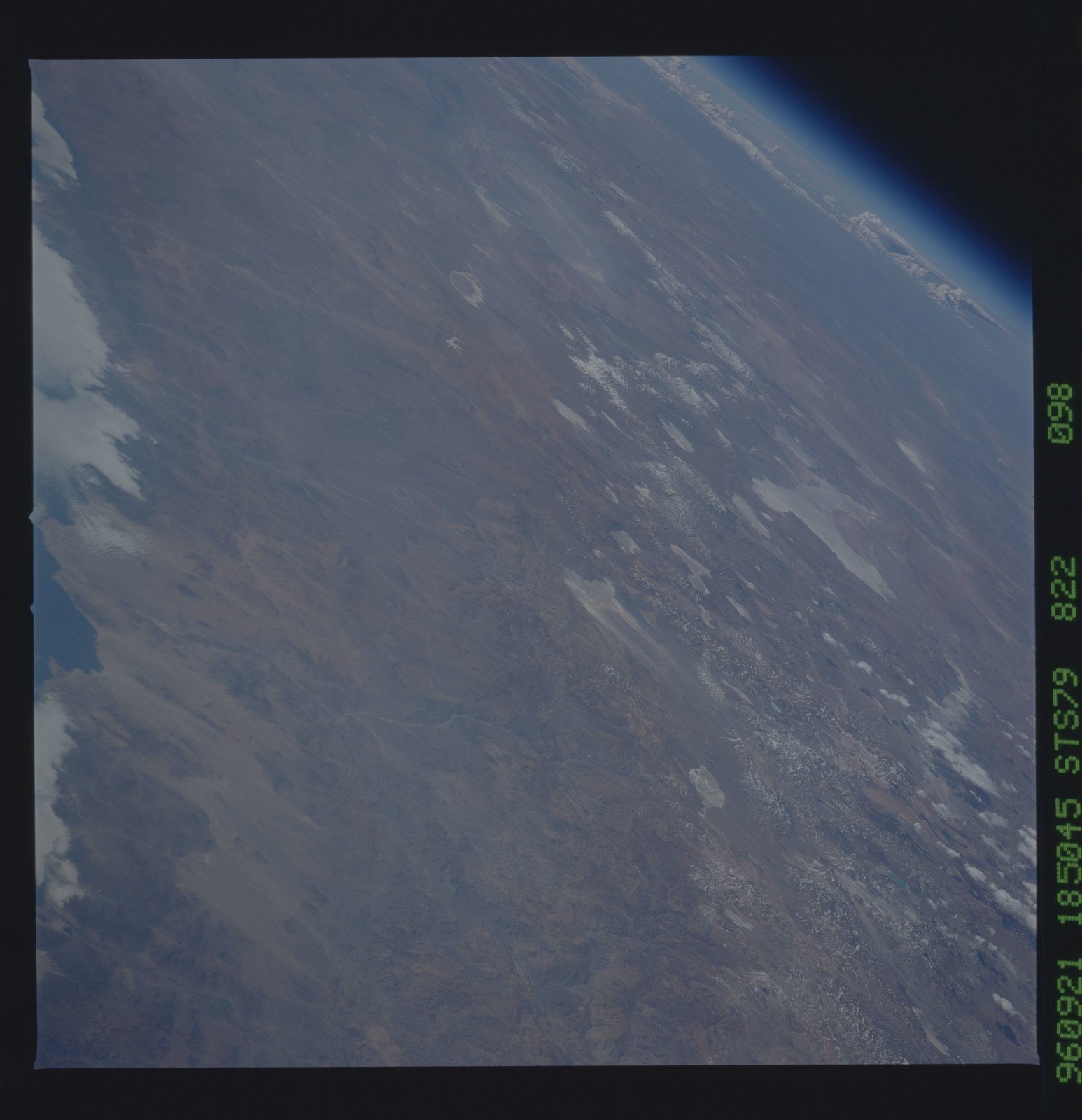 STS079-822-098 - STS-079 - Earth observations taken during STS-79 mission
