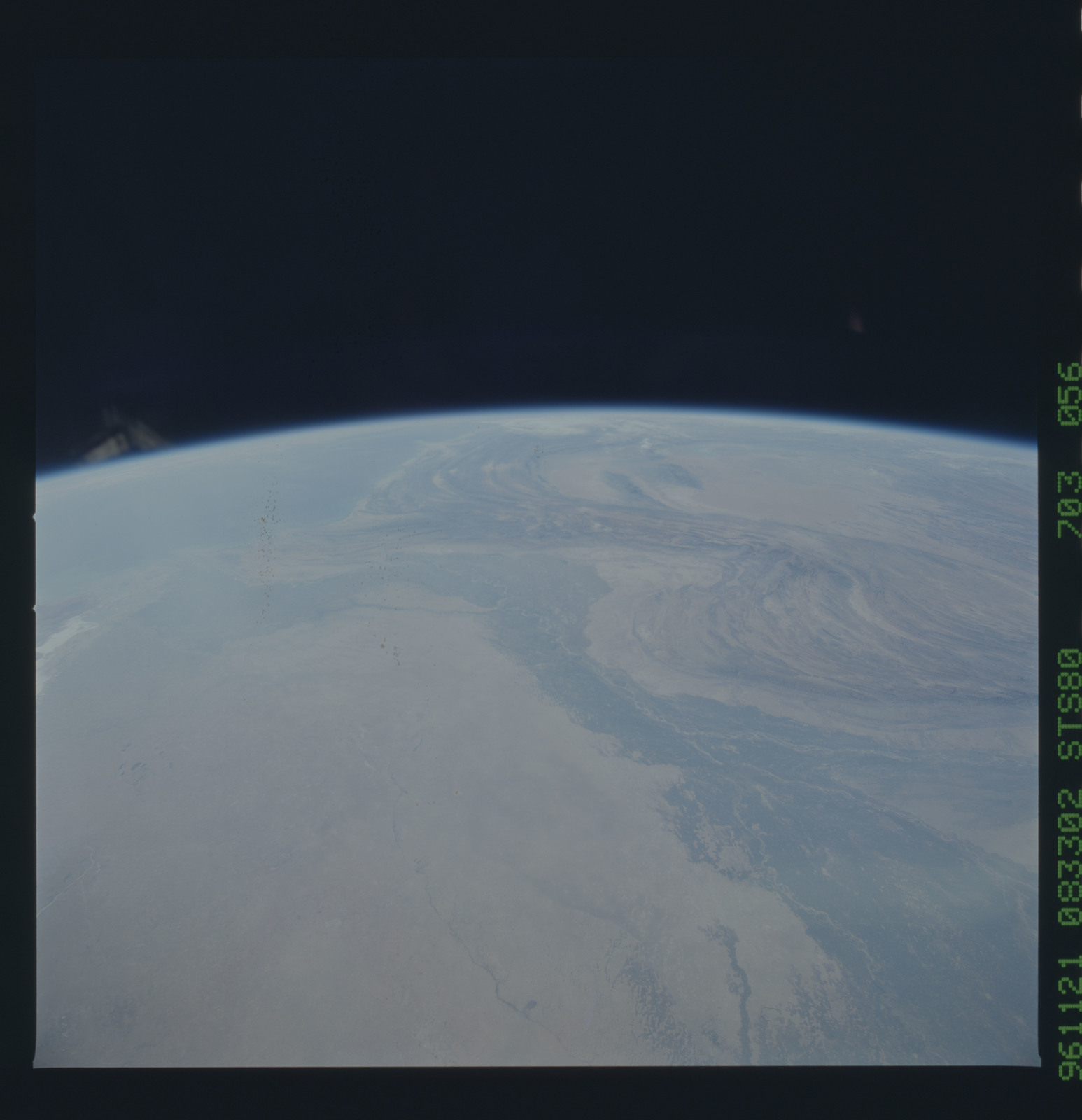 STS080-703-056 - STS-080 - Earth observations taken from Space Shuttle Columbia during STS-80 mission