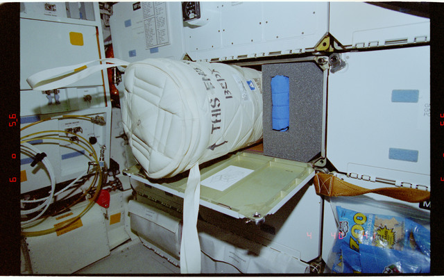 STS081-358-013 - STS-081 - Protein Crystal Growth GN2 Dewar freezer