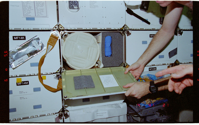 STS081-358-015 - STS-081 - Protein Crystal Growth GN2 Dewar freezer