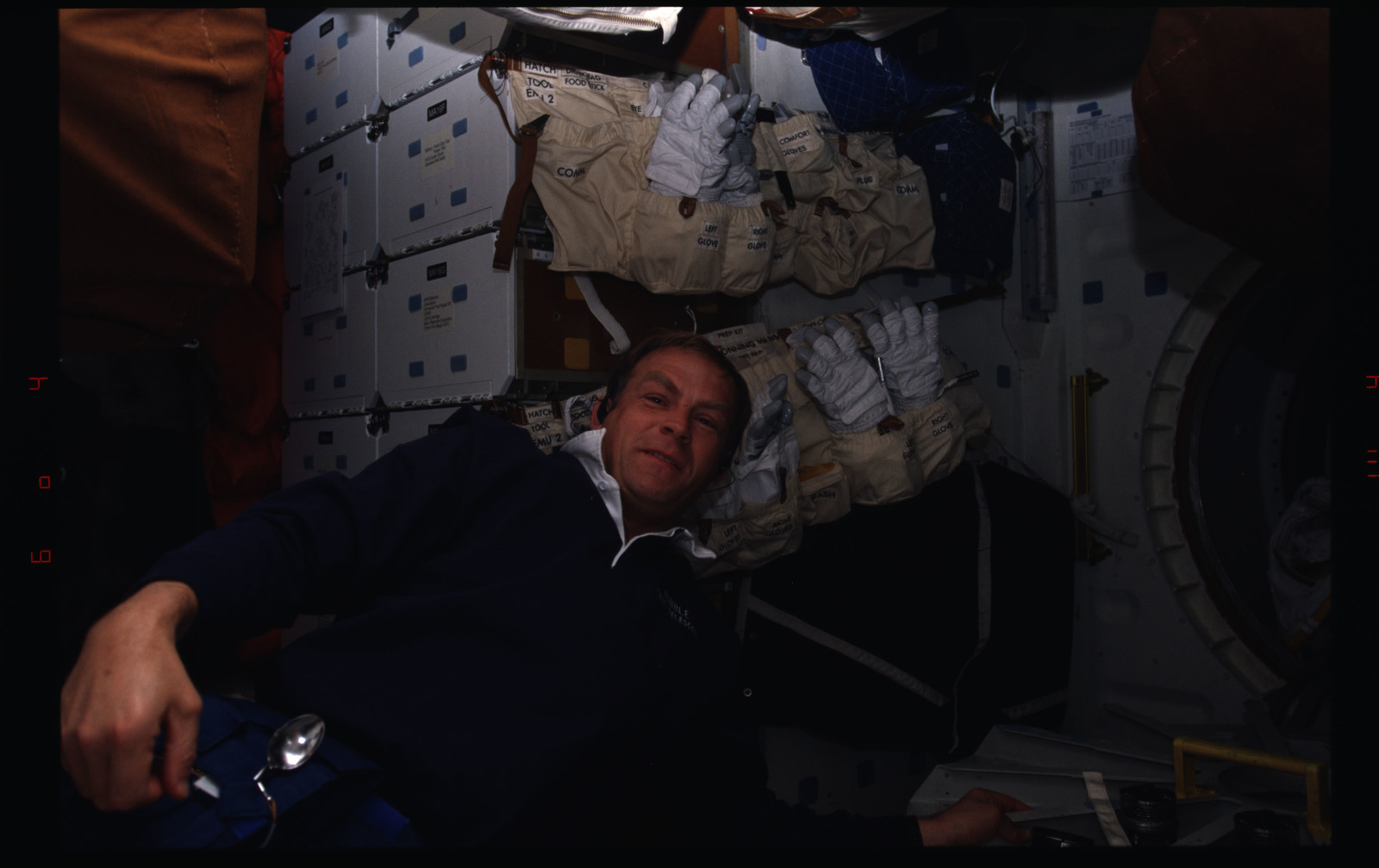 STS082-333-019 - STS-082 - Crewmember activities in the shuttle middeck and flight deck