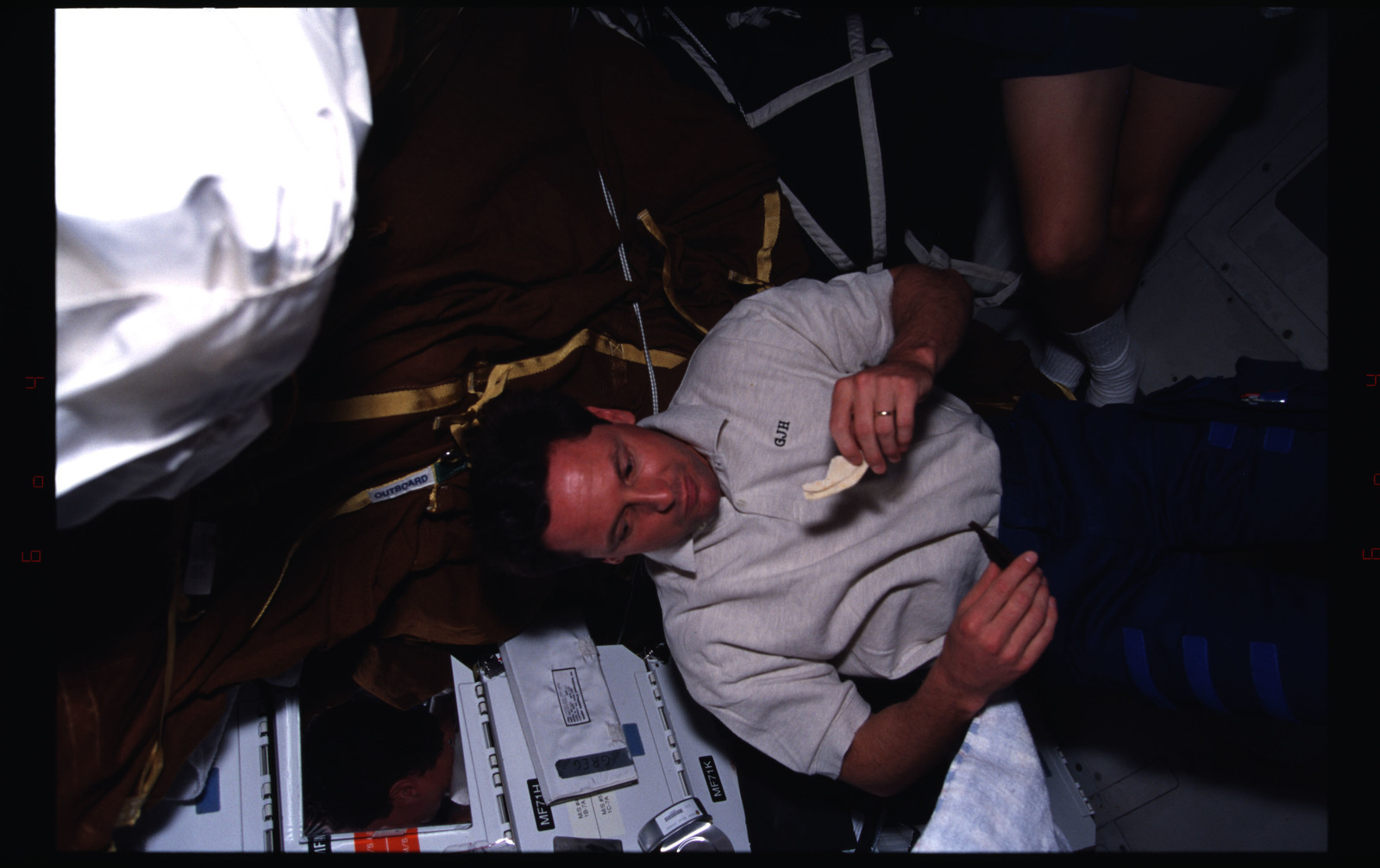 STS082-381-003 - STS-082 - Crewmember activities in the shuttle middeck on day off