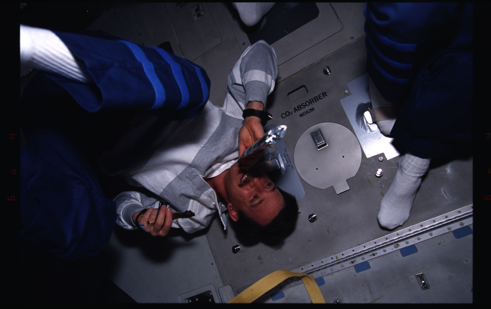 STS082-381-006 - STS-082 - Crewmember activities in the shuttle middeck on day off