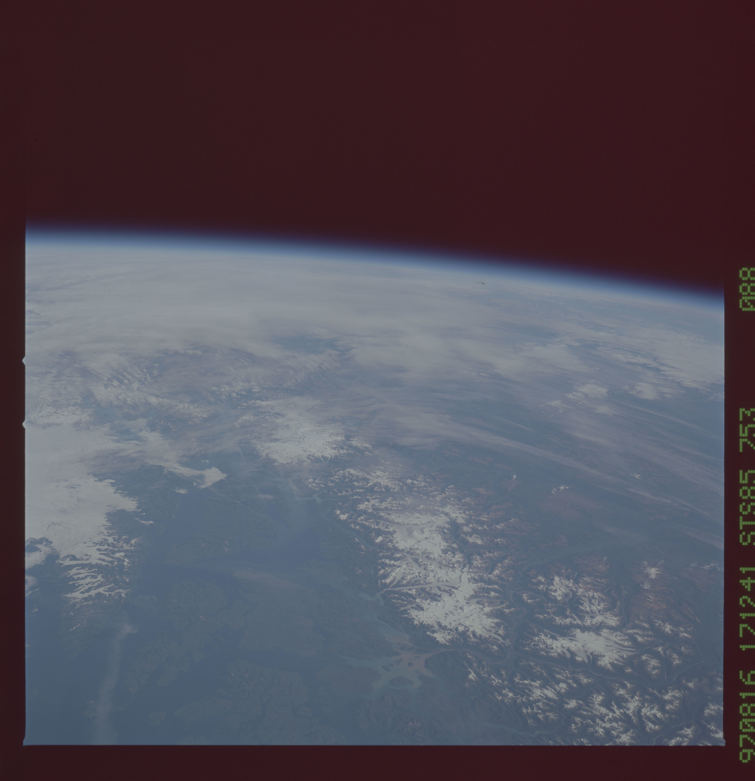 STS085-753-088 - STS-085 - Earth observations taken from orbiter Discovery during STS-85 mission