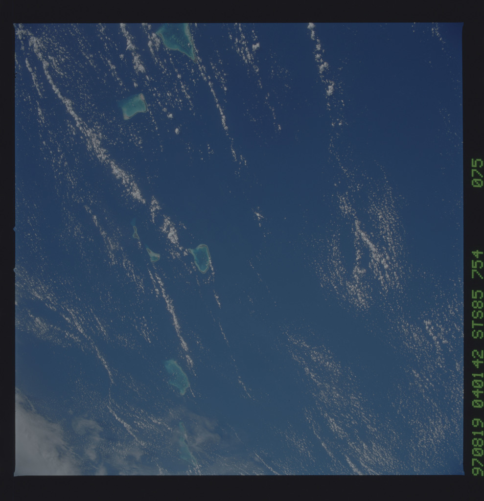 STS085-754-075 - STS-085 - Earth observations taken from orbiter Discovery during STS-85 mission
