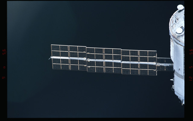 STS088-304-016 - STS-088 - View of the FGB/Zarya module during approach