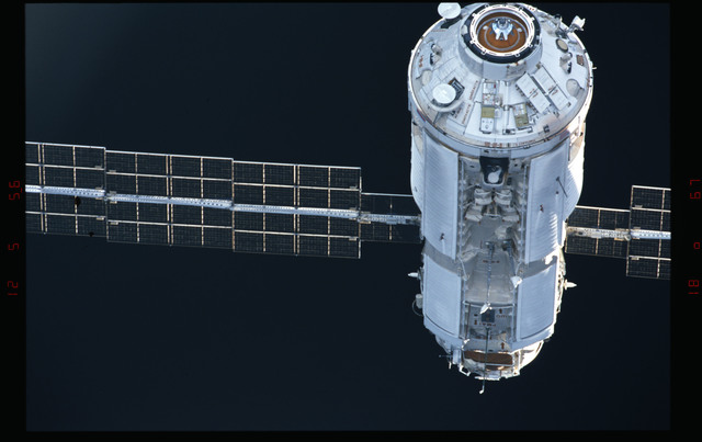 STS088-304-017 - STS-088 - View of the FGB/Zarya module during approach