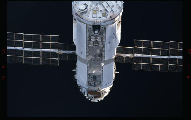 STS088-304-021 - STS-088 - View of the FGB/Zarya module during approach