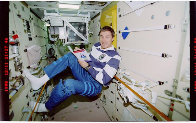 STS088-324-032 - STS-088 - Krikalev in FGB/Zarya module