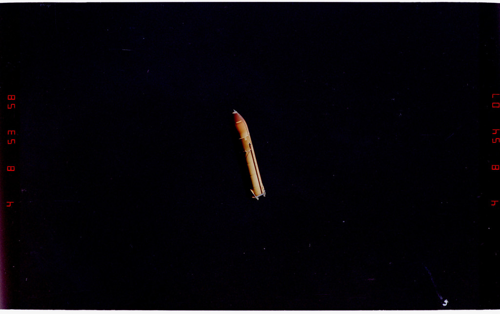 STS088-333-014 - STS-088 - View of the external tank after separation