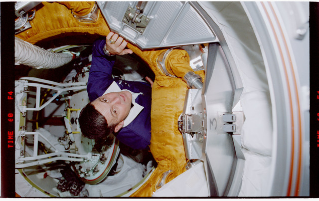 STS088-342-020 - STS-088 - View of the STS-88 crew in the PMA and Node 1/Unity module