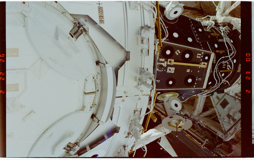 STS088-347-031 - STS-088 - View of the ISS stack taken during the STS-88 mission
