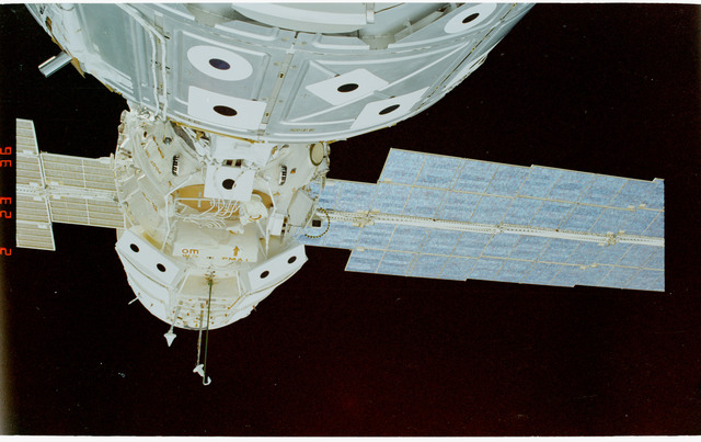 STS088-347-034 - STS-088 - View of the ISS stack taken during the STS-88 mission
