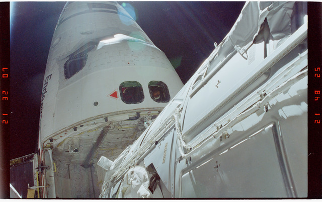STS088-352-007 - STS-088 - View of the ISS stack taken during the third of three EVAs