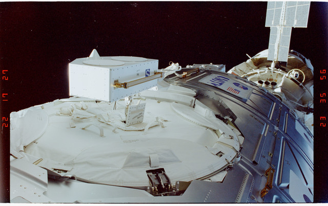 STS088-352-012 - STS-088 - View of the ISS stack taken during the third of three EVAs