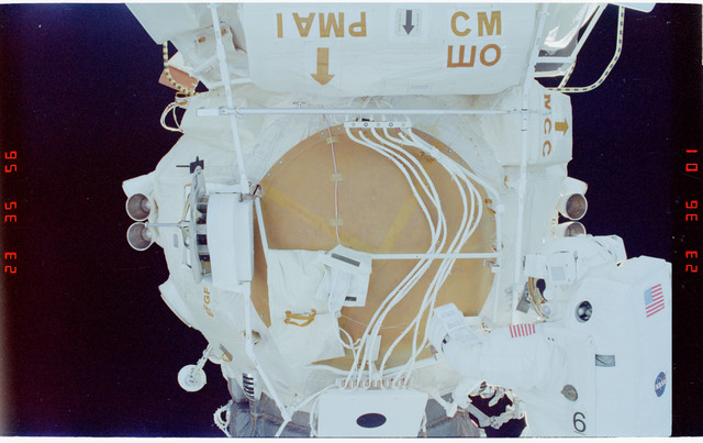 STS088-352-013 - STS-088 - View of the ISS stack taken during the third of three EVAs