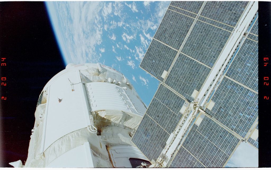 STS088-355-024 - STS-088 - View of the FGB/Zarya modules during EVA