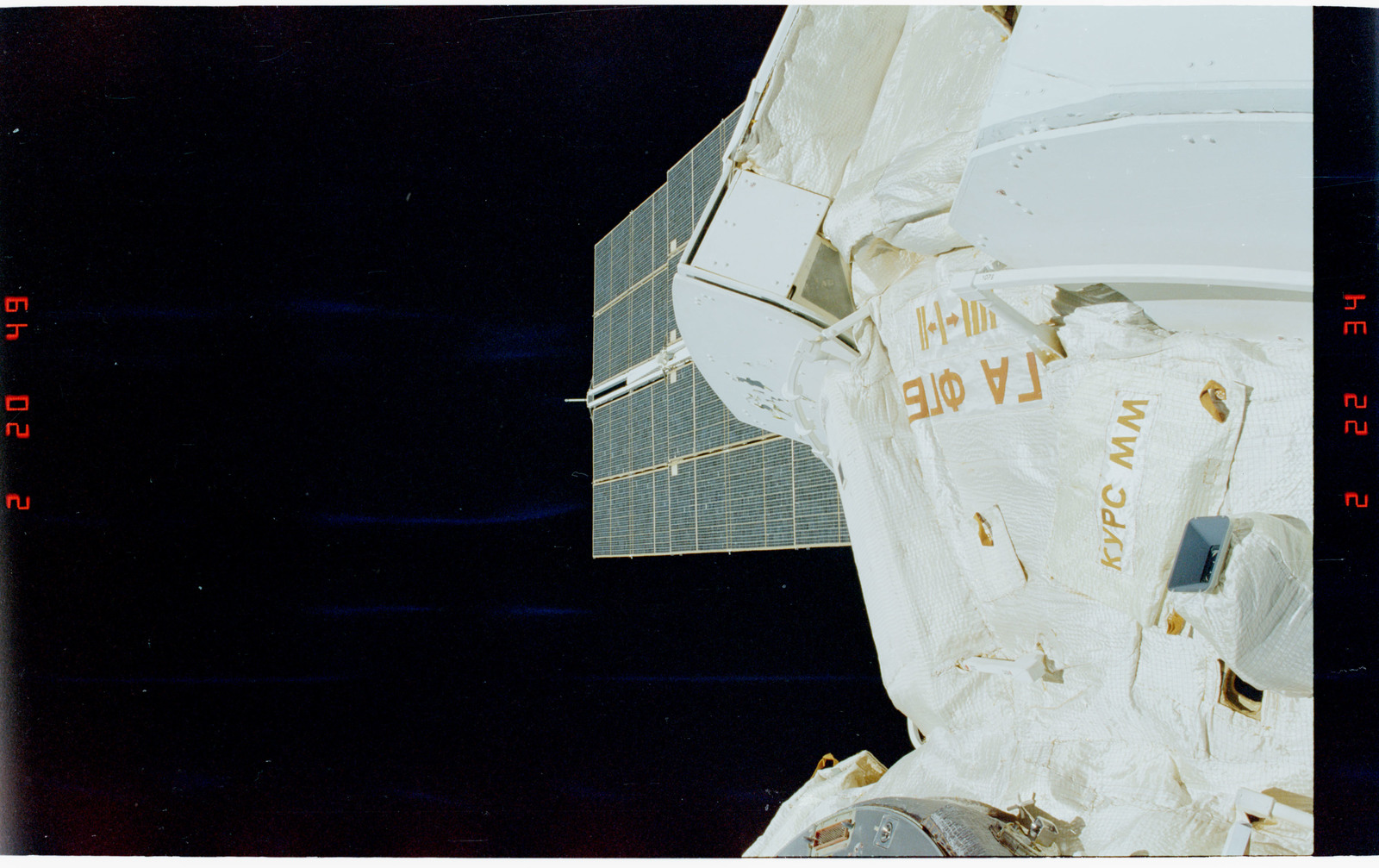 STS088-355-025 - STS-088 - View of the FGB/Zarya modules during EVA