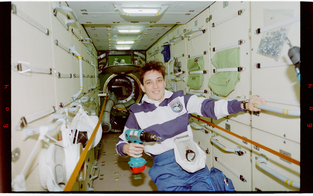 STS088-359-034 - STS-088 - View of the STS-88 crew in the FGB/Zarya module
