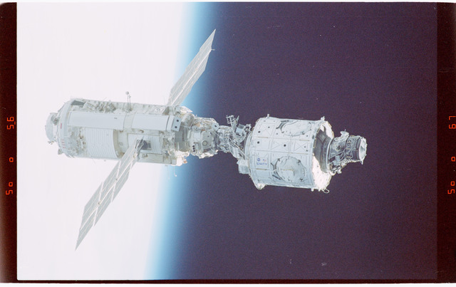 STS088-365-009 - STS-088 - View of the free-flying ISS taken during the fly-around by STS-88