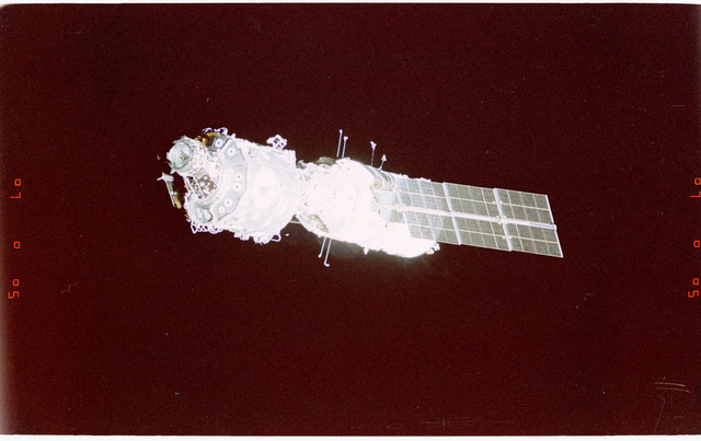 STS088-365-035 - STS-088 - View of the free-flying ISS taken during the fly-around by STS-88