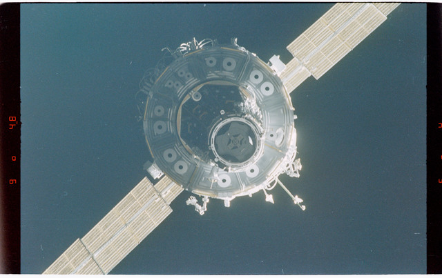 STS088-368-001 - STS-088 - Views of the free-flying ISS stack taken during fly-around by STS-88 mission