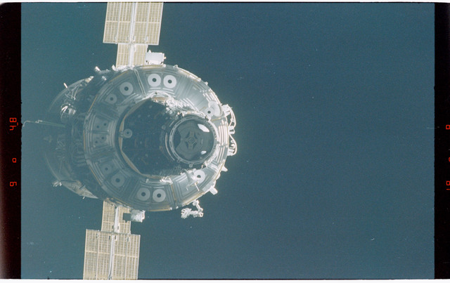 STS088-368-005 - STS-088 - Views of the free-flying ISS stack taken during fly-around by STS-88 mission