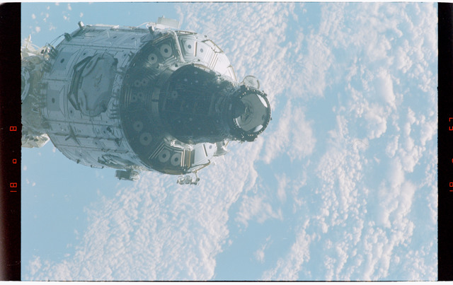 STS088-368-006 - STS-088 - Views of the free-flying ISS stack taken during fly-around by STS-88 mission