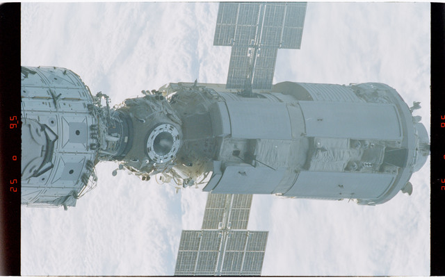STS088-368-010 - STS-088 - Views of the free-flying ISS stack taken during fly-around by STS-88 mission