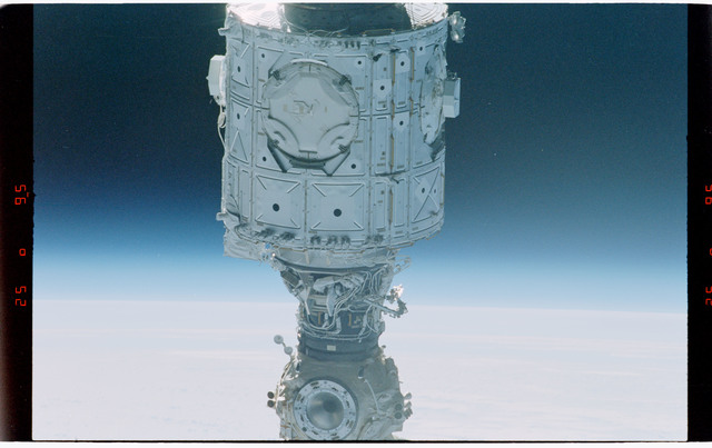 STS088-368-014 - STS-088 - Views of the free-flying ISS stack taken during fly-around by STS-88 mission