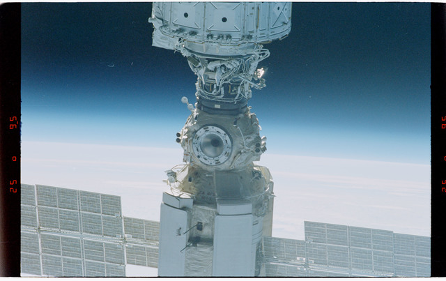 STS088-368-015 - STS-088 - Views of the free-flying ISS stack taken during fly-around by STS-88 mission