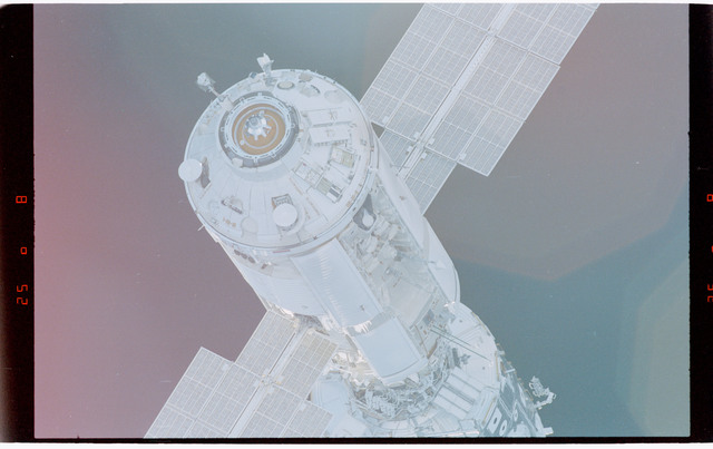 STS088-369-002 - STS-088 - View of the free-flying ISS stack taken during fly-around by STS-89