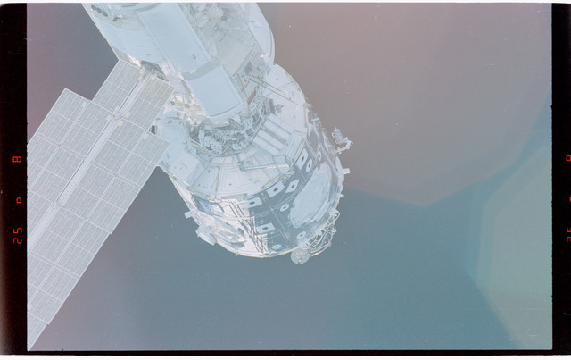 STS088-369-004 - STS-088 - View of the free-flying ISS stack taken during fly-around by STS-91