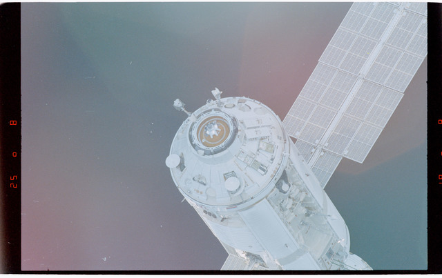 STS088-369-005 - STS-088 - View of the free-flying ISS stack taken during fly-around by STS-92